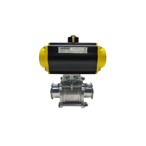 Pneumatic Ball valve 2 way Triclover end